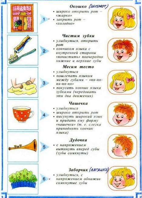 Комплекс упражнений на шипящие